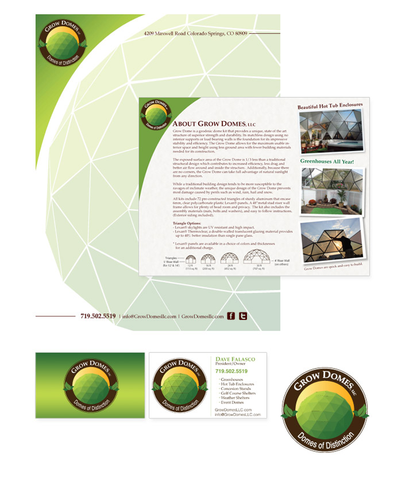 Colorado Springs Graphic Design | Grow Domes